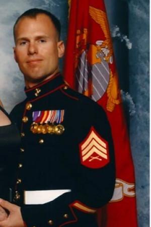 Joe-with-Marine-flag